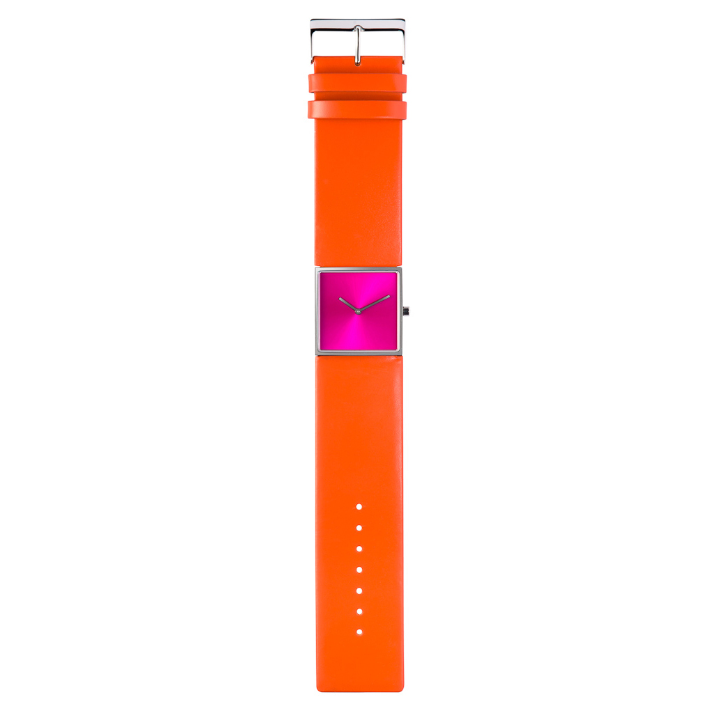 Design collection oranje horloge