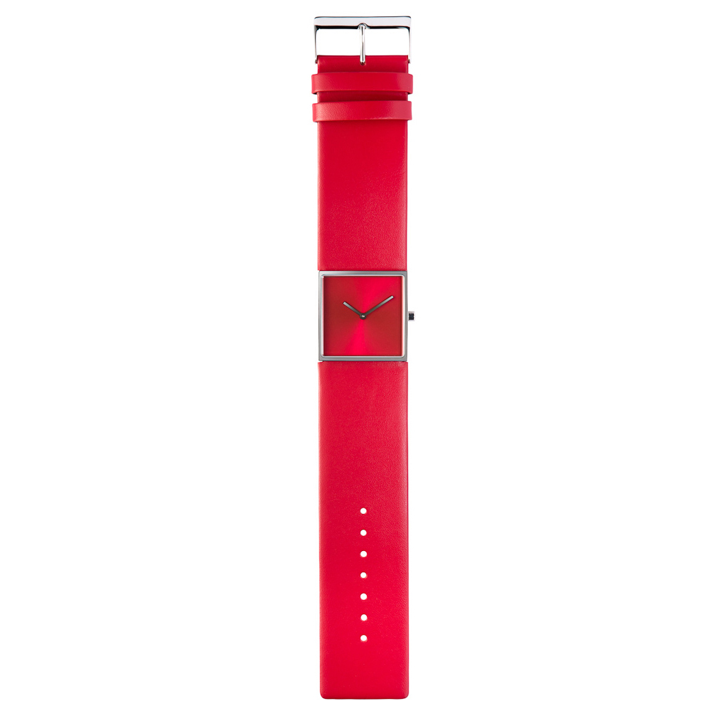 Design collection rood horloge